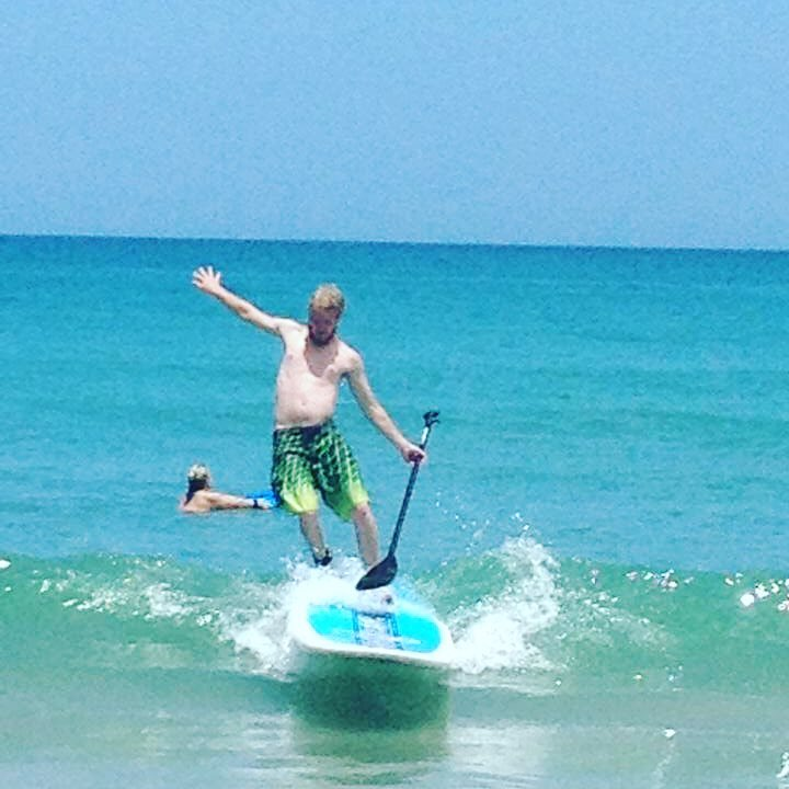 Aaron paddleboardin