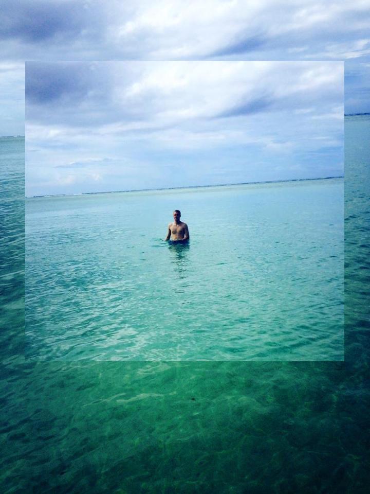 Aaron in Ocean